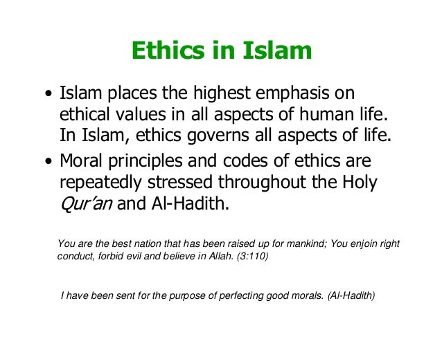 Ethical Teachings of Islam in Relation to the Environment