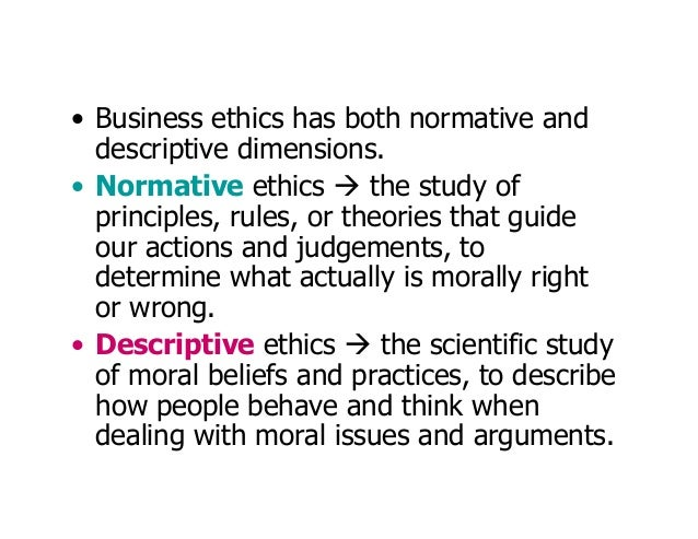 normative ethics and the right to I in normative ethics, we abstract from a lot of individual cases what it is in general that makes something right or wrong, then we take that abstracted principle back down with us into.