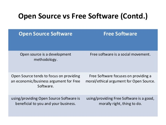 why free software is better than open source