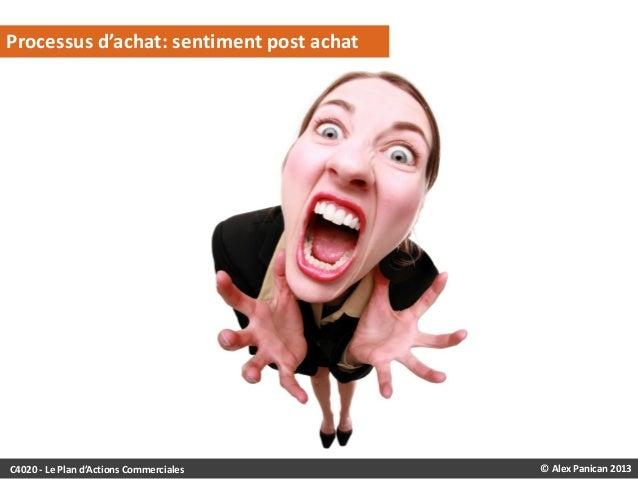 Processus d'achat: sentiment post achat  C4020 - Le Plan d'Actions Commerciales  © Alex Panican 2013