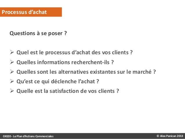 Processus d'achat  Questions à se poser ?  Quel est le processus d'achat des vos clients ?   Quelles informations recher...
