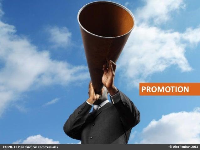 PROMOTION  C4020 - Le Plan d'Actions Commerciales  © Alex Panican 2013