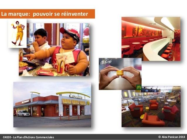 LA MARQUE: REPOSITIONNEMENT DE MCDONALD'S  La marque: pouvoir se réinventer  C4020 - Le Plan d'Actions Commerciales  © Ale...