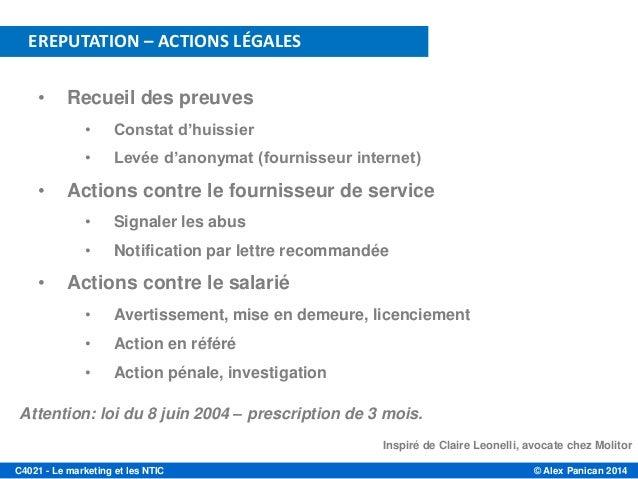 C4021 2014 s9 gestion de crise et e reputation - Peut on porter plainte contre un huissier ...