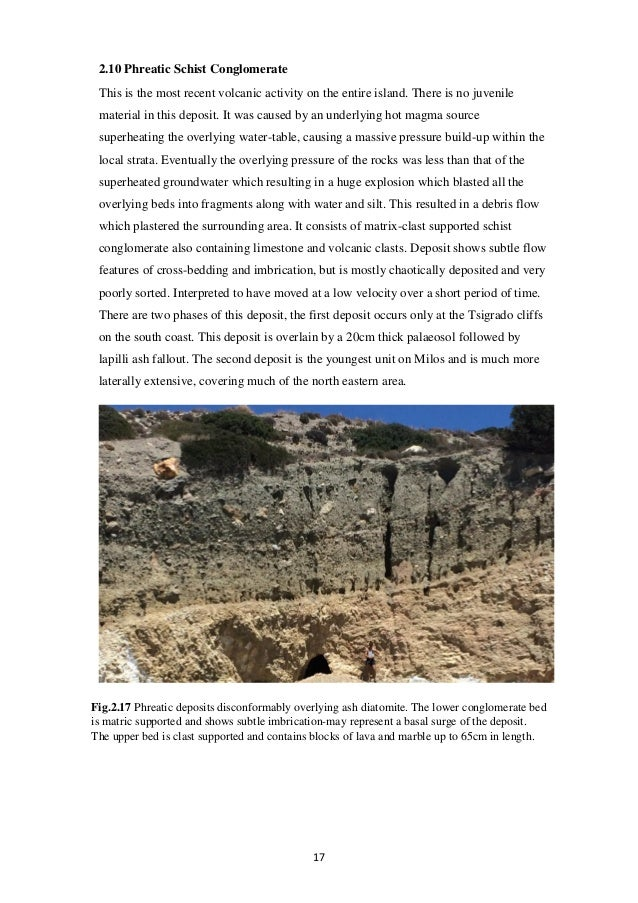 The Geology Of South Central Milos L Begley