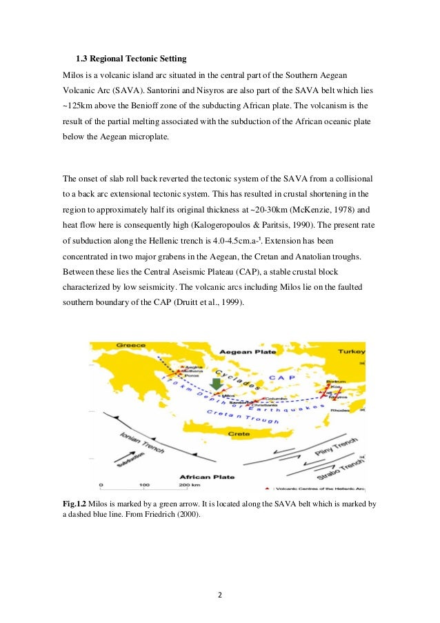 The Geology Of South Central Milos L Begley Images