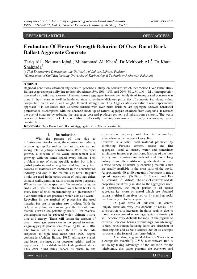 Tariq Ali et al Int. Journal of Engineering Research and Applications ISSN : 2248-9622, Vol. 4, Issue 1( Version 1), Janua...
