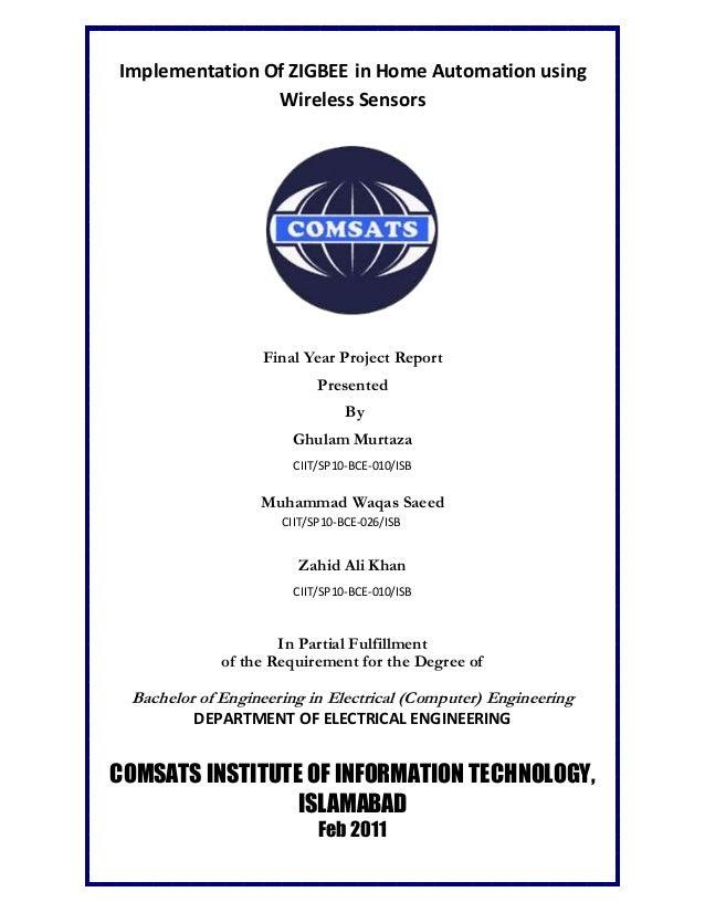 thesis report on zigbee