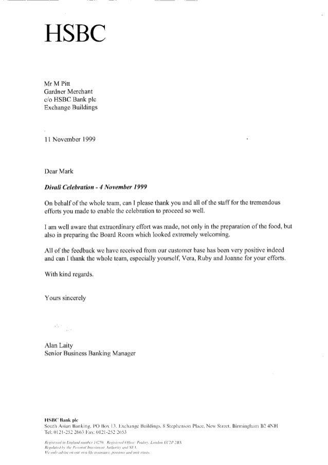 Hsbc Letter Of Credit Sample