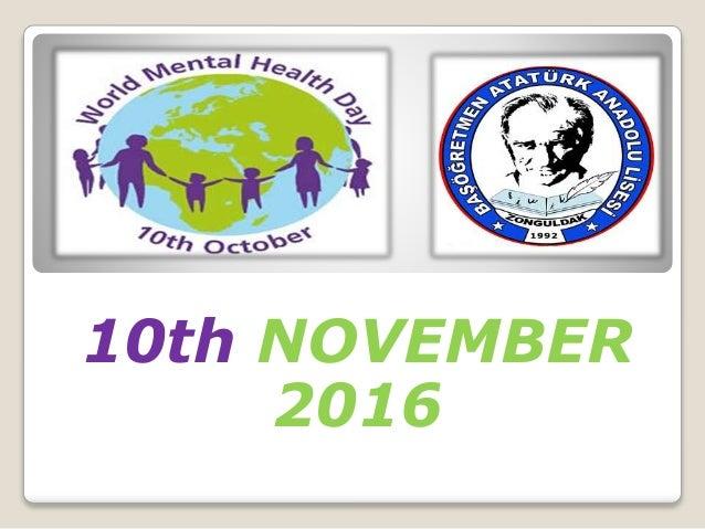 World Mental Health Day Turkey
