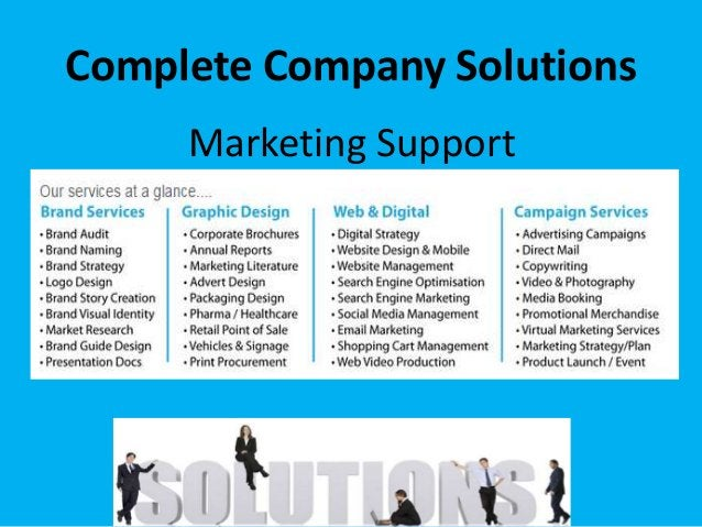 Marketing Support Complete Company Solutions