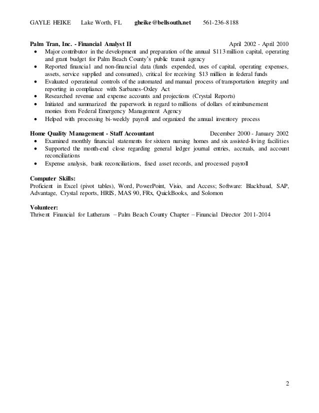 sarbanes oxley resume