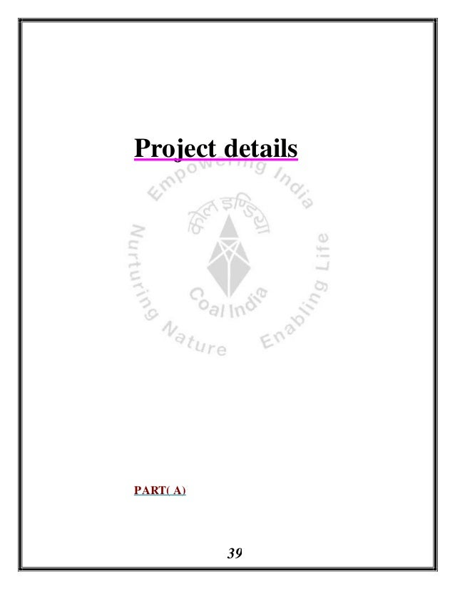 Project report on payroll system and modernization of coal