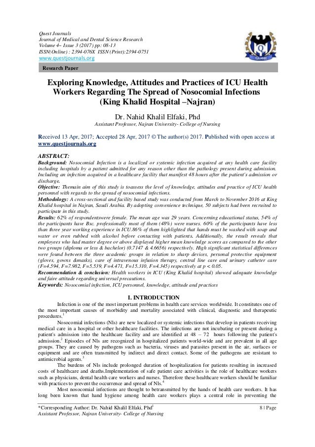 Exploring Knowledge, Attitudes and Practices of ICU Health
