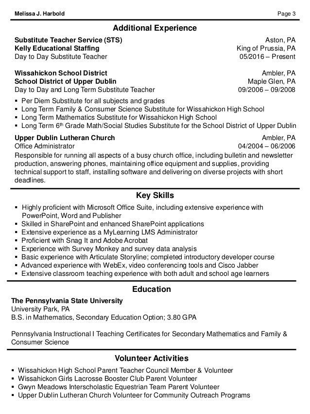 preservice teacher resume resume example for a new teacher top resume objectives good math teaching resume - Education Resume Objectives