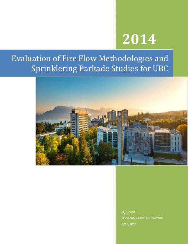 Fire Flow Methodologies And Sprinklering Parkade Studies R03