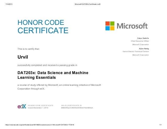 1142015 microsoft dat203x certificate edx httpscourses