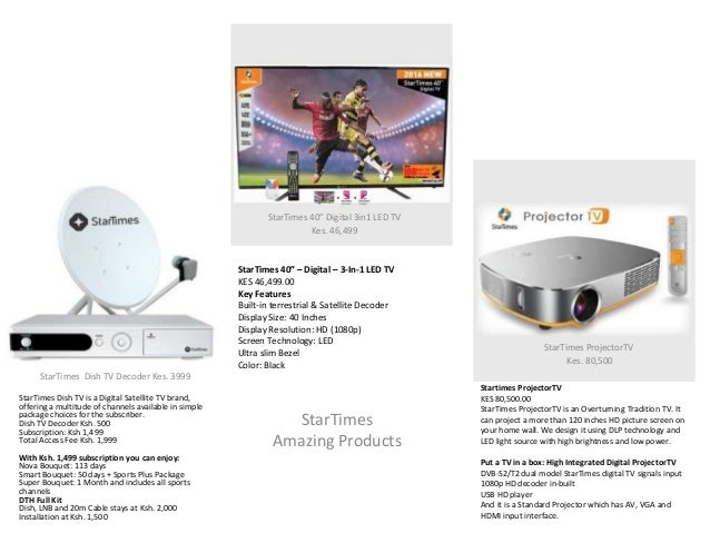 StarTimes Amazing Products