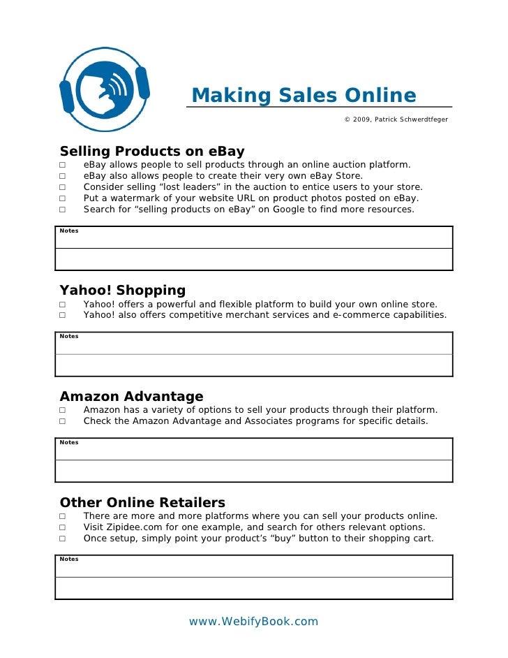 Making Sales Online                                                                    © 2009, Patrick Schwerdtfeger     S...