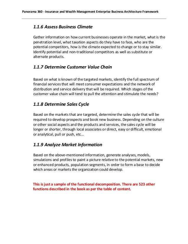 Panorama 360 enterprise business architecture framework sample 21 cheaphphosting Gallery