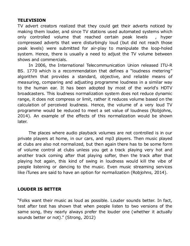 loudness war essay  10