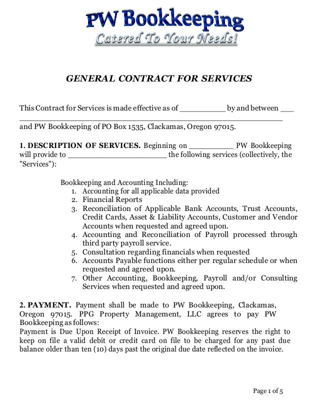 general contract for services