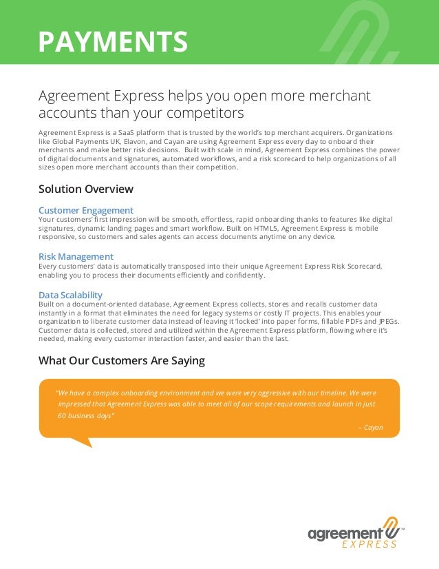 Agreement Express Payments