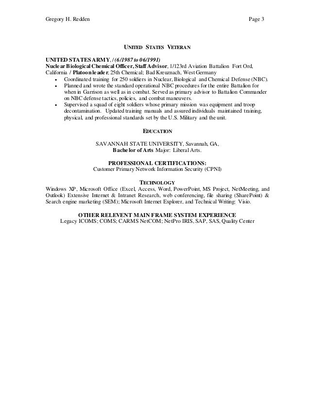 gregory redden resume pricing and business analyst