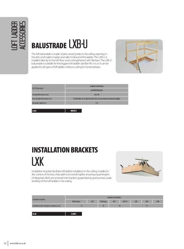 2016 fakro loft ladder catalogue 52