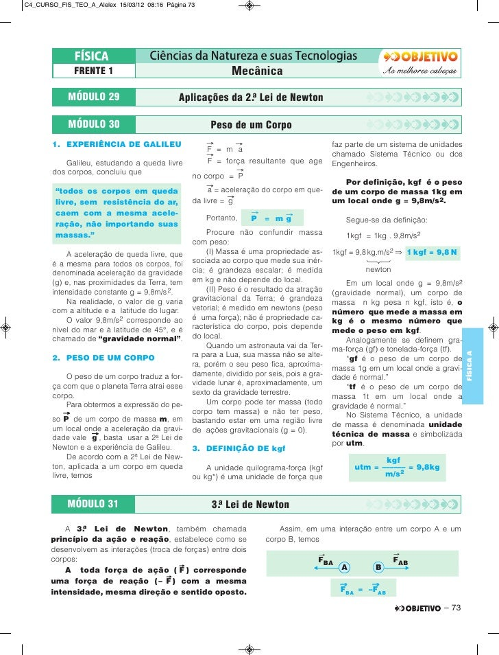 C4_CURSO_FIS_TEO_A_Alelex 15/03/12 08:16 Página 73              FRENTE 1                                      Mecânica    ...