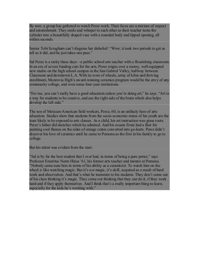 POMONA COLLEGE MAGAZINE Article Fall 2013 Slide 2