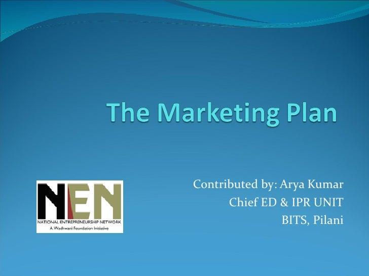 Contributed by: Arya Kumar Chief ED & IPR UNIT BITS, Pilani