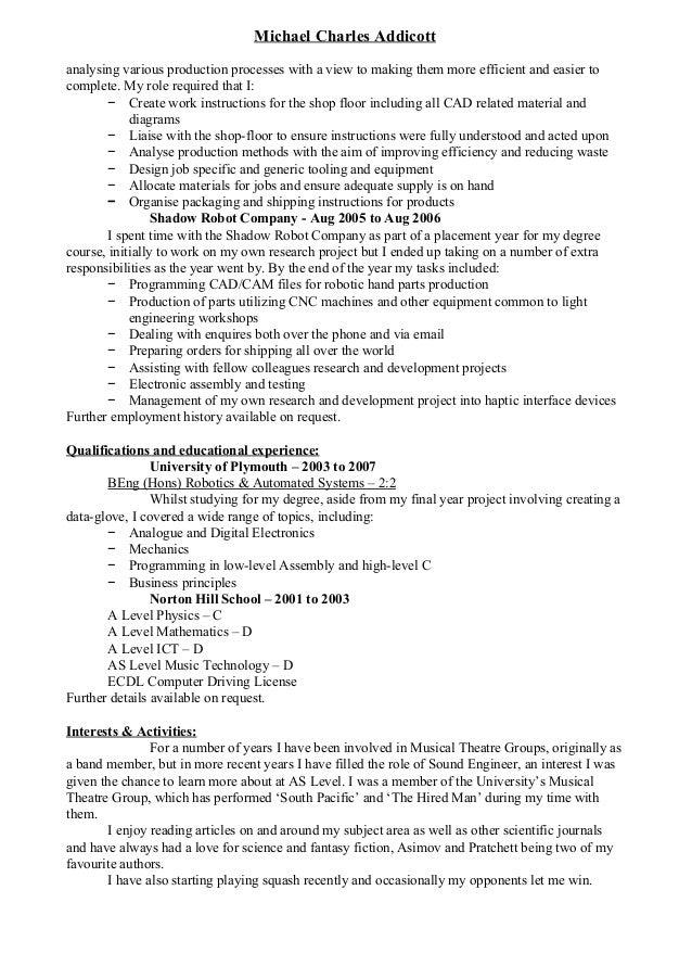 MichaelCharlesAddicott analysingvariousproductionprocesseswithaviewtomakingthemmoreefficientandeasierto...