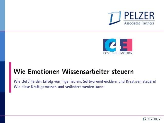 11111 Wie Emotionen Wissensarbeiter steuern Wie Gefühle den Erfolg von Ingenieuren, Softwareentwicklern und Kreativen steu...