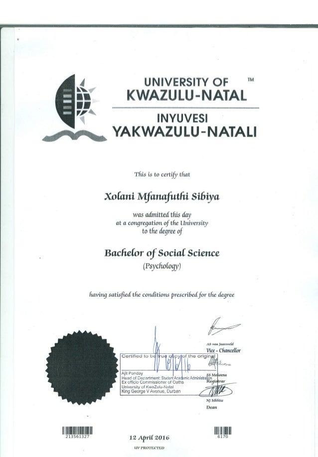 Certified Degree