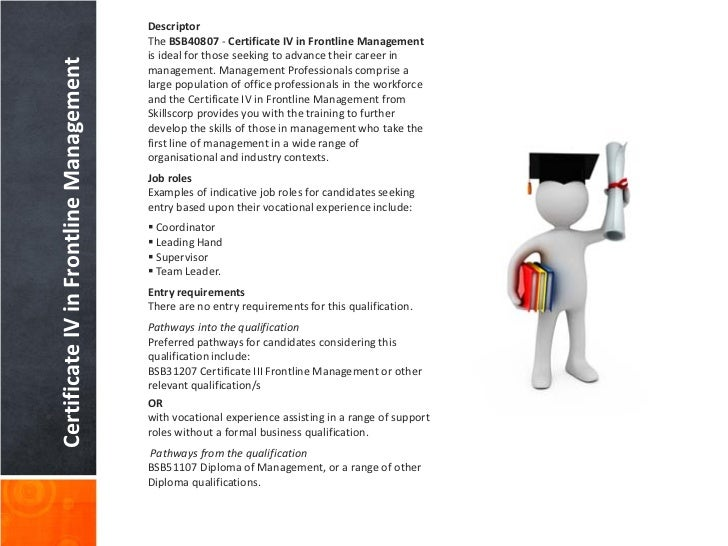 certificate iv in frontline management assignments