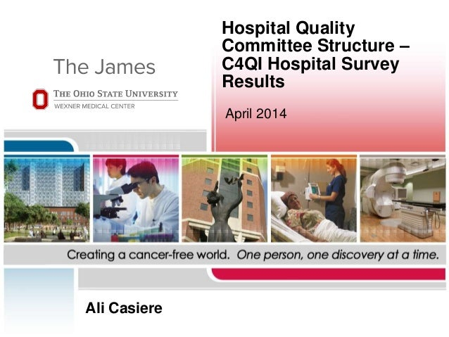 Hospital Quality Committee Structure – C4QI Hospital Survey Results April 2014 Ali Casiere