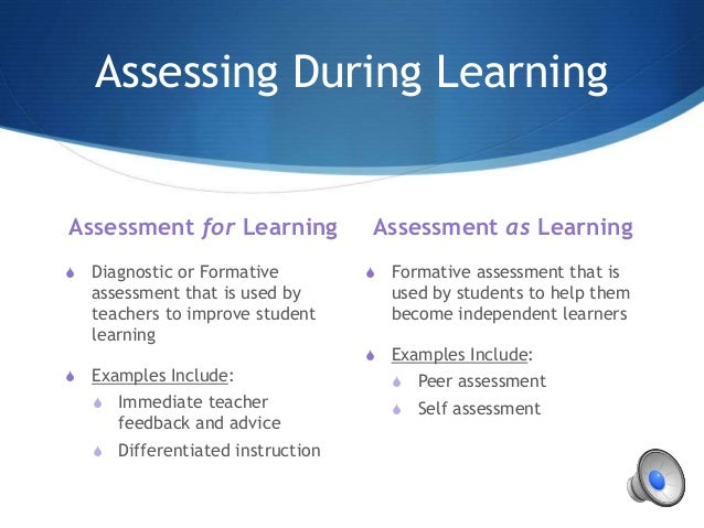assessing and improving a learning environment Linking classroom assessment with  • can help students improve their own performances classroom assessments do more than just measure learning what we assess,.