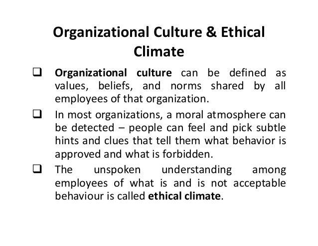 Ethics and organization