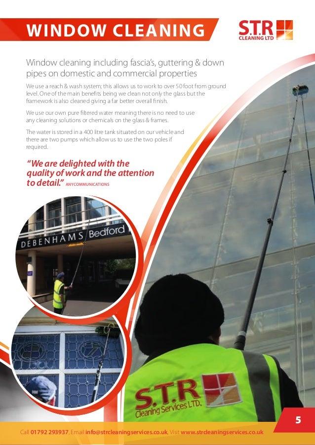 window cleaning brochure