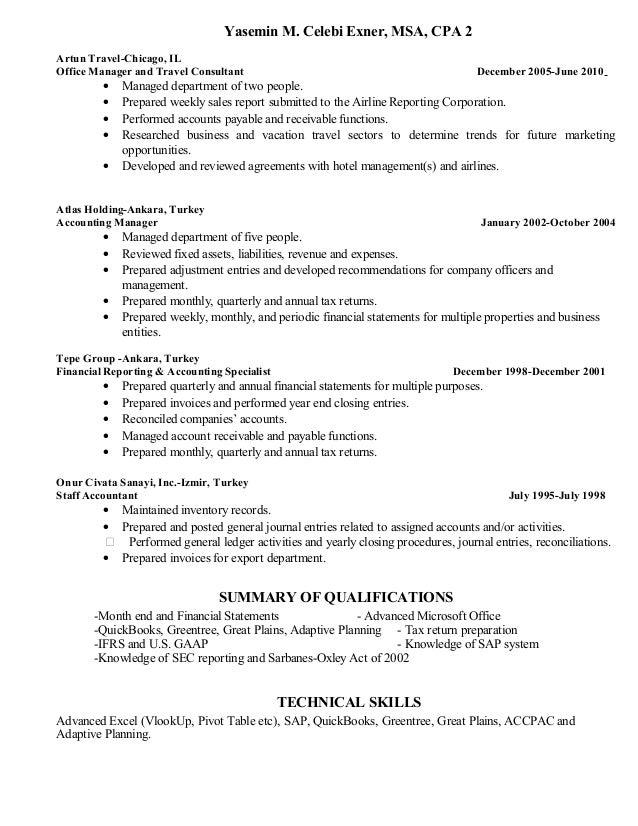 Yasemin Celebi Exner\'s Resume Update