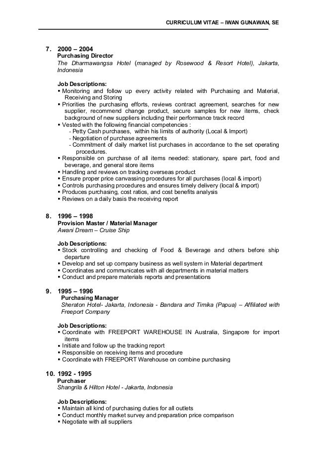 how to set up a curriculum vitae