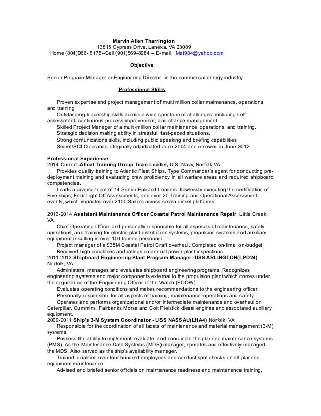 1MAT Power Industry Resume