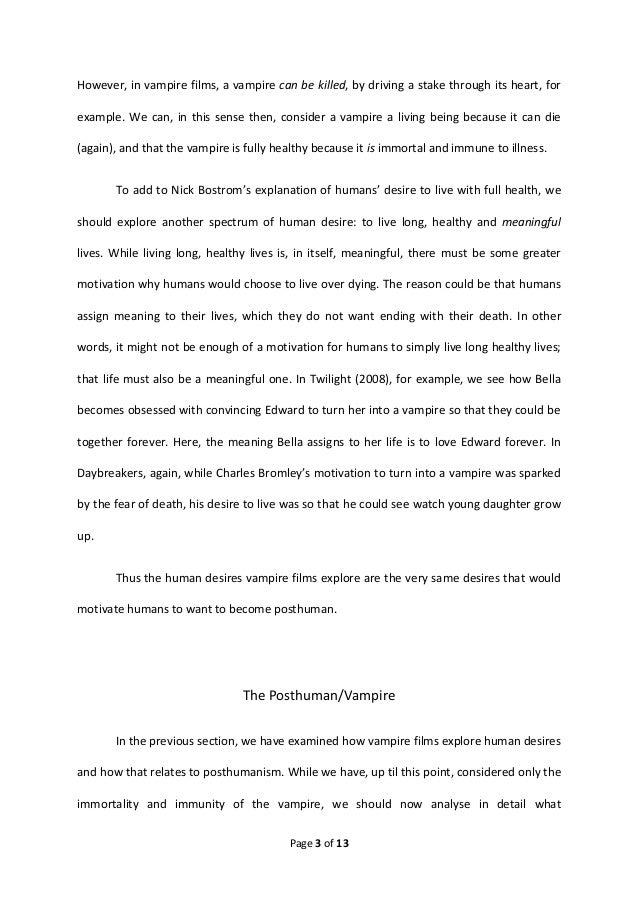 vampire essay conclusion