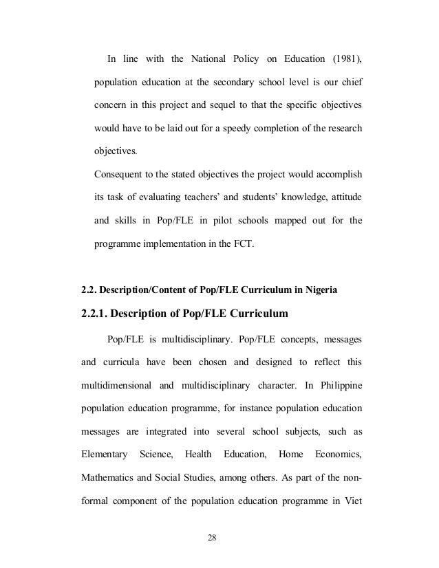 thesis on population studies