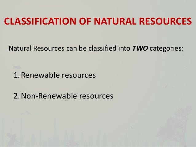 Primary Natural Resources Iv