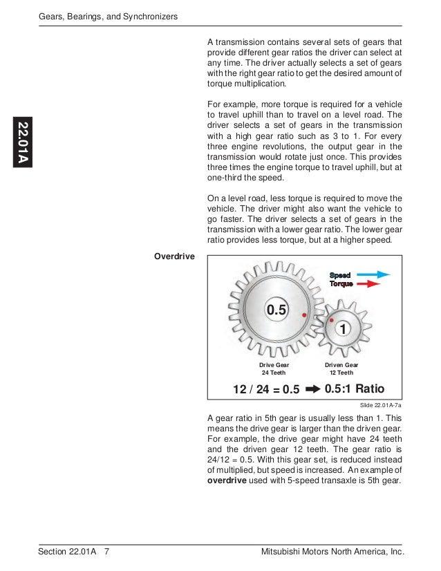 MTT2 Instructor Guide – Gear Ratio Worksheet