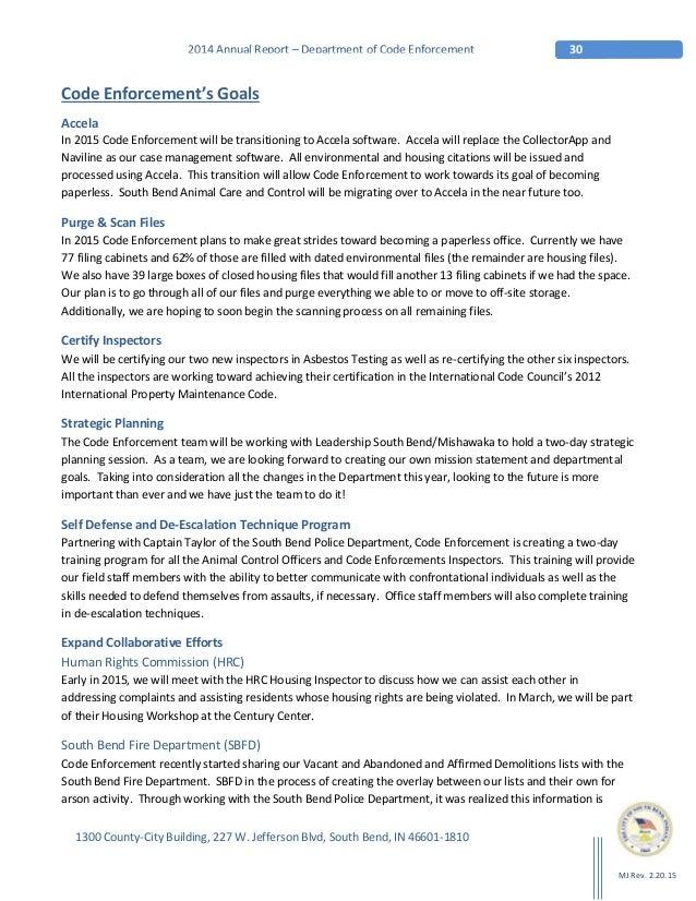 2014 Code Enforcement Annual Report