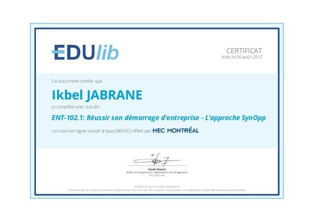 Claude Ananou Maître d'enseignement, Département de management HEC Montréal un cours en ligne ouvert à tous (MOOC) offert p...
