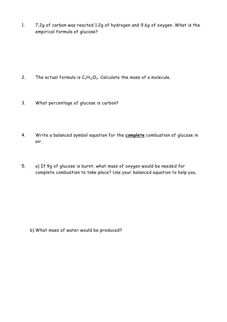 Pictures Empirical Formula Worksheet With Answers – Empirical Formula Worksheet with Answers